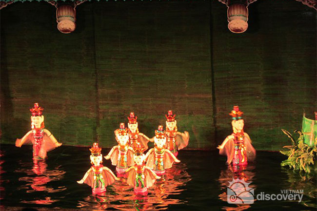 Water puppet shows weekly held in Hoi An
